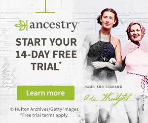 Ancestry advert
