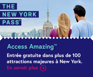 Carte Touristique avec Hop on Hop off bus du Pass de New York